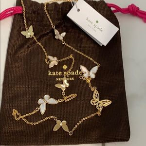 Kate Spade All A Flutter Butterfly Necklace NWT
